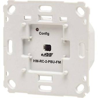 Homematic 142237A0 HM-RC-2-PBU-FM Draadloze Zender 2-kanaals Flush mount