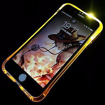 Mobile Shell LED Licht chiamare per mobile Samsung Galaxy S6 oro