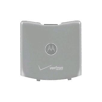 OEM Motorola RAZR V3m Standard Battery Door / Cover - Silver (Bulk Packaging)
