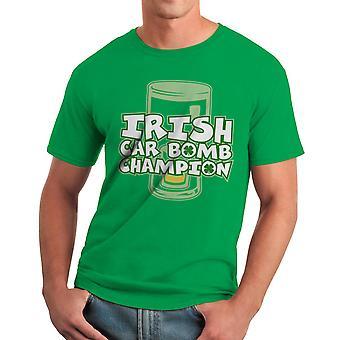 Irish Car Bomb Champion Graphic Men's Kelly Green T-shirt
