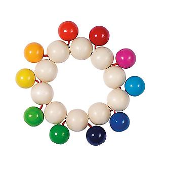 Heimess Touch Ring Rattle Elastic Beads Rainbow