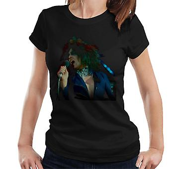 TV vezes Marc Bolan cantando na t-shirt supersônico T Rex feminino