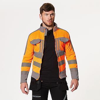 Tactical Threads Mens Hi Vis Power Fleece Workwear Jacket