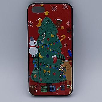 iPhone 6 Plus pouch-Christmas-Christmas tree scene