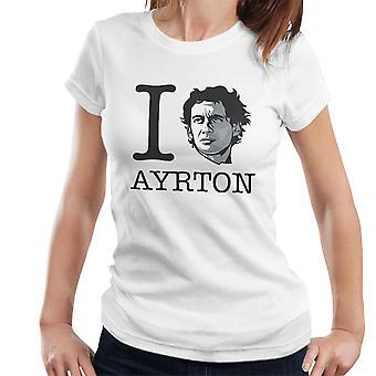 I Heart Ayrton Senna Damen T-Shirt