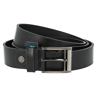 TomFranks Men's Black Suede Leather Belt BL109