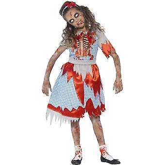 ゾンビの国女の子衣装、小さな年齢 4-6