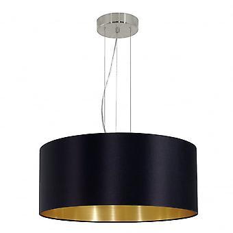 Eglo Maserlo Modern Black And Gold Shade Ceiling Pendant
