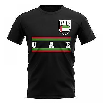 Vereinigte Arabische Emirate Kern Fußball Land T-Shirt (schwarz)