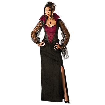 Womens Midnight Vampire Witch Film Halloween Fancy Dress Costume