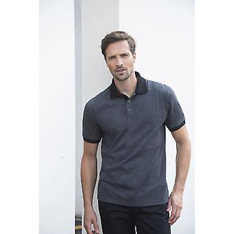 Henbury Mens Contrast Tri-Blend Jersey Polo Shirt
