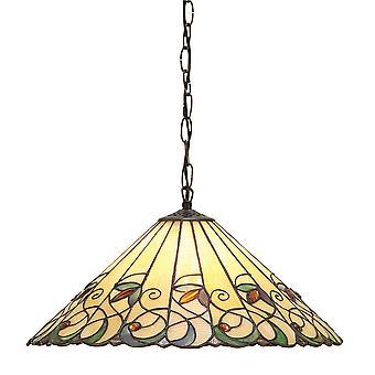 Jamelia medio estilo Tiffany una luz de techo colgante - interiores 1900 64193