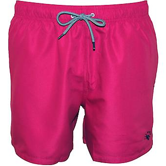 Ted Baker Classic Swim Shorts, Pink/Purple With Navy Contrast