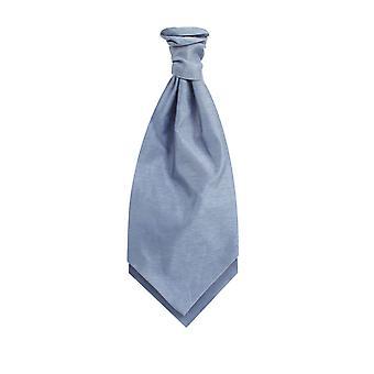 Dobell Heritage Blue Dupion Cravat (vooraf gebonden & Hand gebonden)