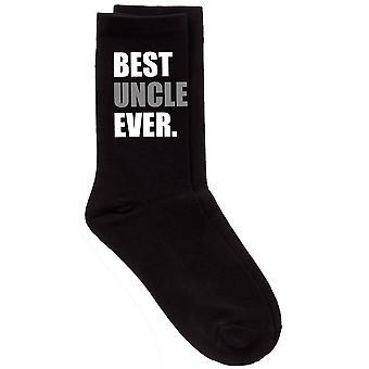 Mens beste onkel noensinne V2 svart kalv sokker