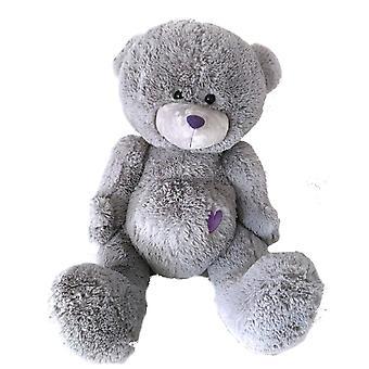 Urso de peluche Milton 80 cm urso macio cinzento