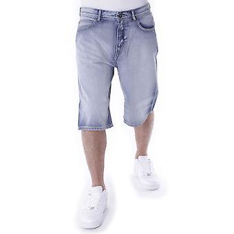 Pelle Pelle Buster posete denim shorts hvit vasket