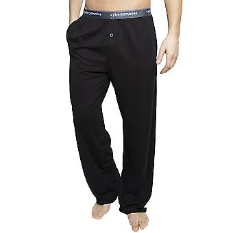 Cyberjammies 6395 férfi ' s Isaac fekete pamut Pyjama Pant
