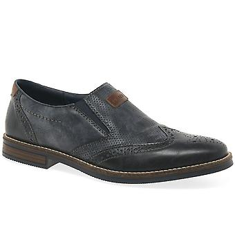 Rieker Woking Mens Brogue Style Loafers