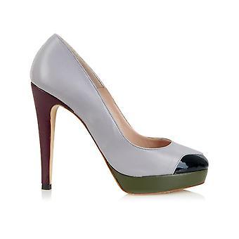 Mayfair plateau grijs schoenen