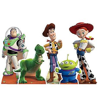 Complete Set of Official Toy Story Cardboard Cutout / Standees - Collection of 5