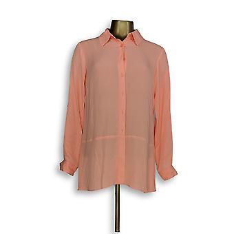 Joan Rivers Classics collectie vrouwen ' s top zijdeachtige blouse roze A288773