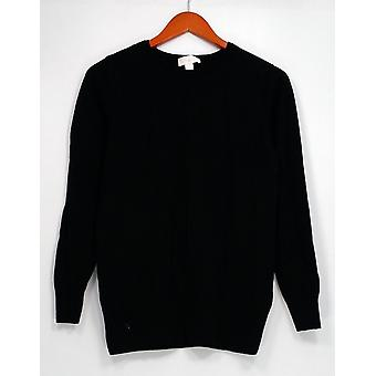Belle by Kim Gravel Sweater Blouson Long Sleeve Black A299312