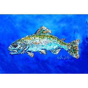 Carolines Treasures MW1124PLMT Poisson Headed Downstream Fabric Placemat