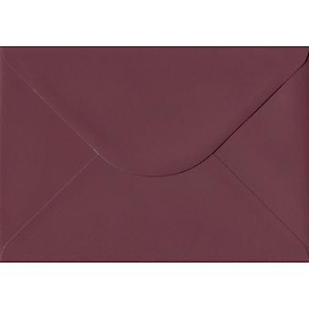 Bordeaux Red Gummed C5/A5 Coloured Red Envelopes. 120gsm GF Smith Colorplan Paper. 162mm x 229mm. Banker Style Envelope.
