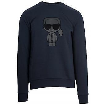 Lagerfeld Navy Crew Neck Sweatshirt
