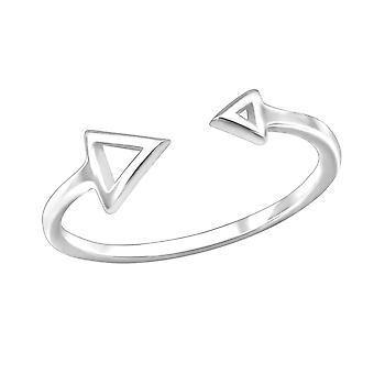 Open Triangle - 925 Sterling Silver Plain Rings - W30372X