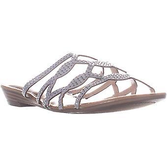 Rebel by Zigi Womens Meera Fabric Open Toe Casual Slide Sandals