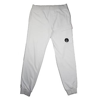 CP Company White Watch Viewer Lens Tracksuit Bottoms
