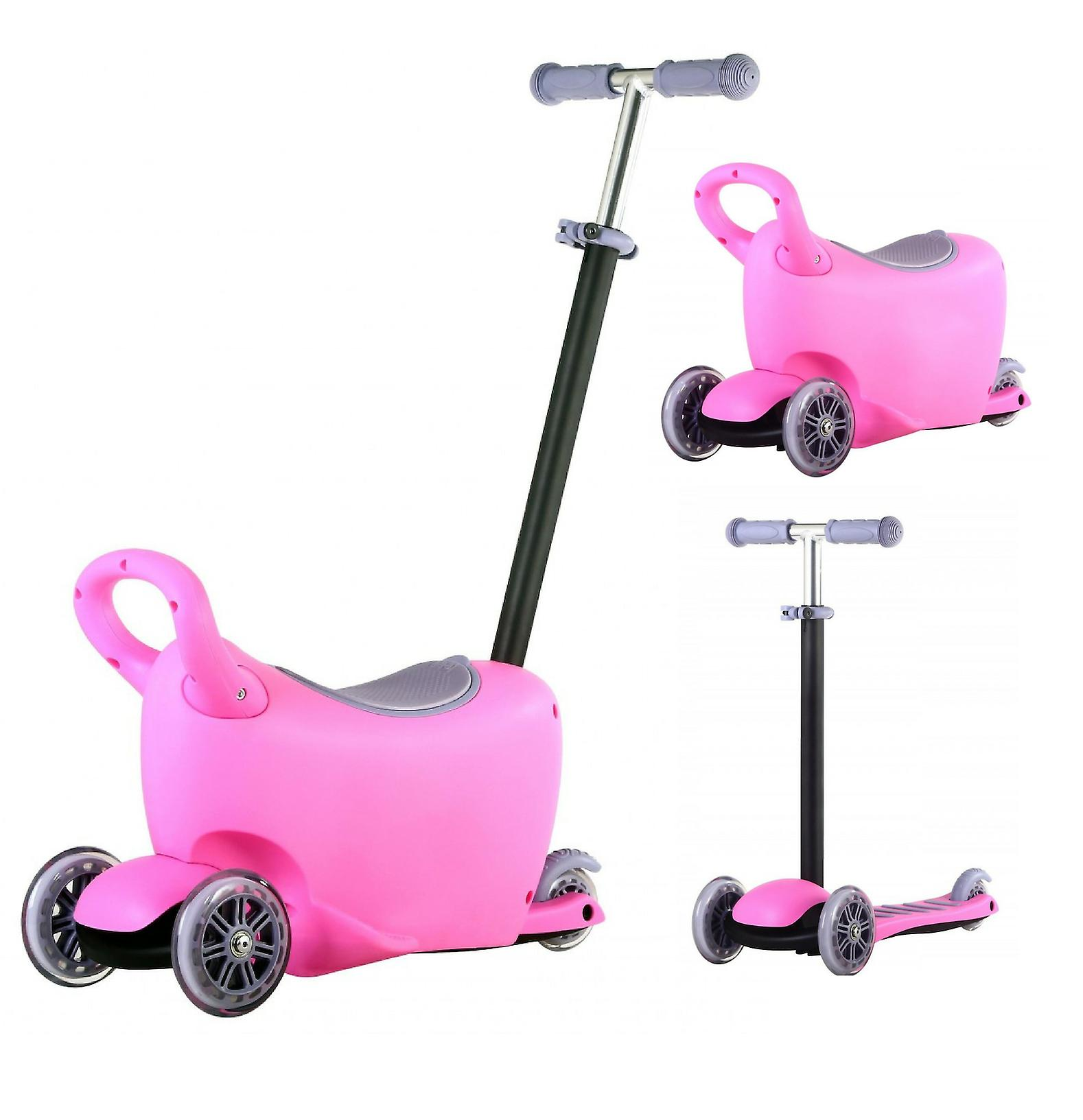 Rideontoys4u 3 Stages 3in1 Light Up Scooter With Storage Box Pink Fruugo No
