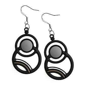 Batucada Skin Jewellery Black Saturn Earrings 12-01-03-02-Black