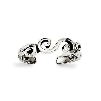 925 sterling sølv solid polert antikviteter tå ring smykker gaver til kvinner