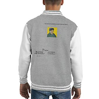 A.P.O.H Vincent van Gogh One Must Work And Dare Quote Kid's Varsity Jacket