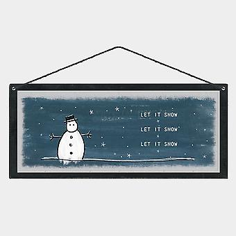East of India Christmas Wooden Sign Plaque 'Let it snow Let it snow Let it snow'