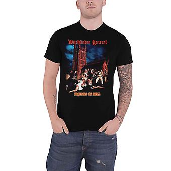 Witchfinder General T Shirt Friends Of Hell Band Logo new Official Mens Black