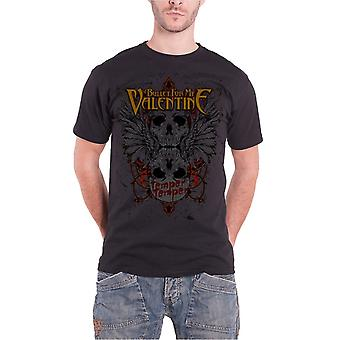 Bullet For My Valentine Mens T Shirt Black Winged Skull Official