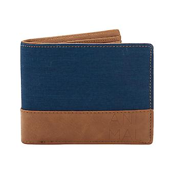Animal Reckless Faux Leather Wallet in Navy
