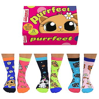 United Oddsocks Purrfect Socks Gift Set For Women