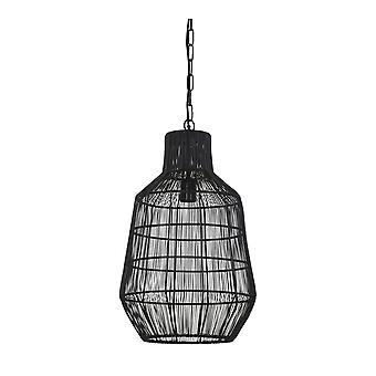 Licht & levende opknoping Pendant Lamp D34x55cm Haisey gematteerd zwart