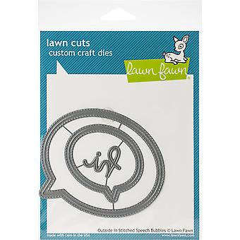 Lawn Cuts Custom Craft Die-Outside In Stitched Speech Bubbles