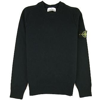 Stone Island 552A3 Pull en laine tricoté Noir V0029