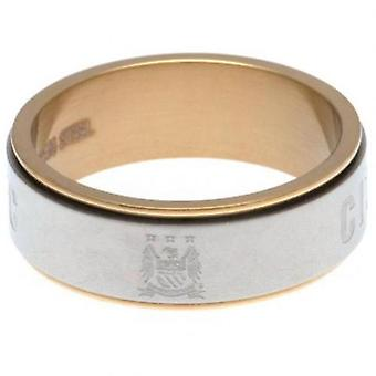 Manchester City Bi Colour Spinner Ring X-Small