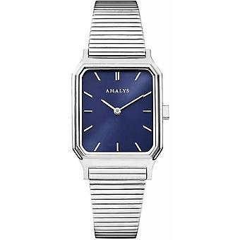 Montre Amalys EDEN - Bo�tier Acier Argent� Bracelet Acier Argent� Cadran Bleu Femme