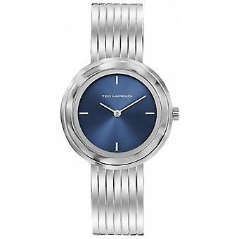Horloge Ted Lapidus A0743ADIW - stalen Silver Dial blauw vrouw