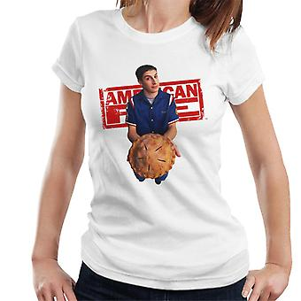 American Pie Jim Holding Pie Women's T-Shirt