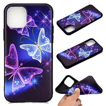 Für iPhone 11 Pro farbige Zeichnung Muster stoßfeste TPU Schutzhülle, Sternenfalter